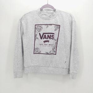 Vans Rose Border Graphic Crew Sweatshirt
